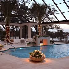 patio with square pool. View In Gallery Serene Pool With A Lovely Fireplace Next To It Patio Square