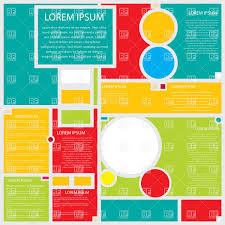 Page Design Templates Web Page Design Template In Shapes And Colors Stock Vector Image