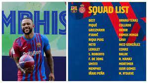 FC Barcelona News: Memphis Depay could make Barcelona debut in Girona  friendly