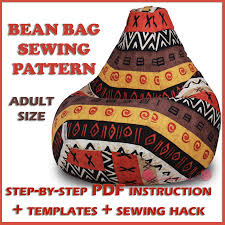 bean bag sewing pattern full size template pdf craftsy beanbag