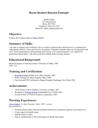 Resume For Nursing Student 8 Resume Objective Examples Nursing