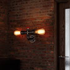 brick in the wall lighting. American Country Loft Style Wall Lamp Industrial Water Pipe Sconces Vintage Light For Home Lightings Lampara Pared,E27*2-in Lamps From Lights Brick In The Lighting
