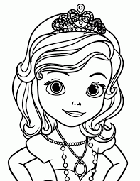 Princess Sofia Coloring Page Coloring Home