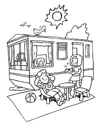 Jaargetijden Zomer Kleurplaten Camping