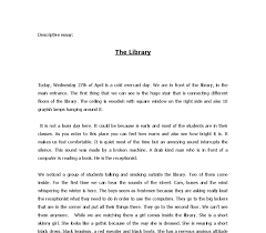 descriptive essay the library   gcse english   marked by teacherscom document image preview