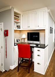 built in kitchen desk home office traditional with built in desk white cabinets built home office desk