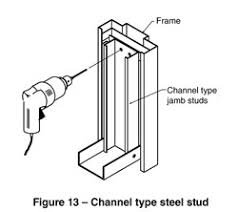 metal studs dimensions. 7 steel stud wall construction, studs erected with frame (see figure 12) metal dimensions