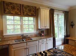 Kitchen Window Valances Window Treatments For Wide Kitchen Windows Window Treatment