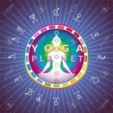 Yoga Chart Free Yoga Planet Astrologic Circle Chart Of Solar System With Meditating