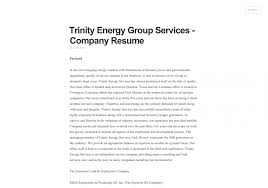 Company Resume Resumes Trinity Energy Group Services 55ac6b7bacf98