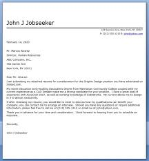 Sample Graphic Design Cover Letter Cover Letter Samples Cover