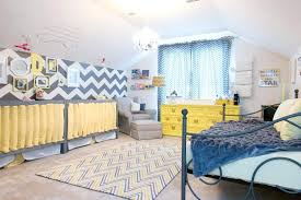 Yellow And Gray Chevron Bedroom Chevron Themed Yellow And Grey Nursery For  Twin Girls Yellow And Gray Chevron Decor