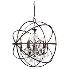 orbis 40 chandelier bronze with crystals