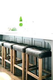 backless leather bar stools contemporary counter height saddle le backless seat adjustable height