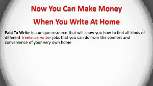 writing jobs from home become a lance writer