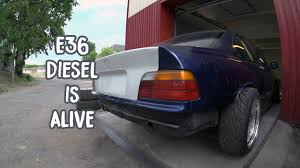 BMW Convertible bmw 325i diesel : E36 diesel is alive - YouTube