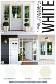 white front door. 7 FRONT DOOR COLORS - White Front Doors Inspiration And Paint Codes Swatches Door