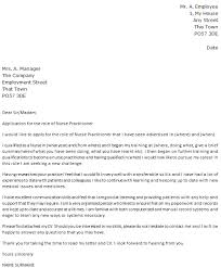Example Of A Cover Letter For Nursing Nurse Practitioner Cover Letter Cover Letter Samples