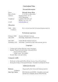 Curriculum Vitae Format Spanish Example Good Resume Template Carpinteria  Rural Friedrich How Do Say Resume In