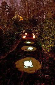 glow in the dark lighting. Make Your Garden Glow With Solar Lights And In The Dark Paint Lighting