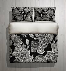Skull Bedroom Accessories Sugar Skull Bedding Any Color Mega Print With Large Detailed