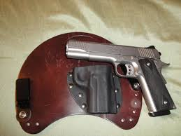 my thoughts on leather vs kydex kimber 1911 small jpg