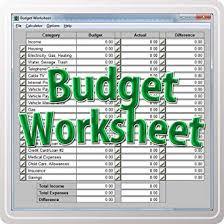 Keeping A Budget Worksheet Budget Worksheet Download