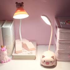 Giá T4/2021: Đèn học để bàn chống cận-đèn học mini-Đèn bàn học bài hình mèo  dễ thương