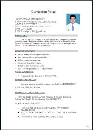 Free Download Resume Format Word Document Resume Template