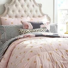 pink and gold bedding set blush