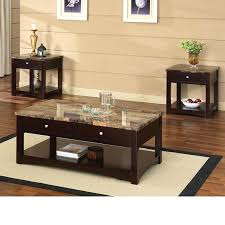 coffee table espresso coffee table espresso finish coffee end table w faux marble lift top set coffee table espresso