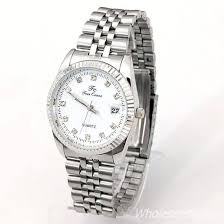 aliexpress mobile global online shopping for apparel phones men s accessory fashion stainless steel wristwatch crystal dial calendar watches white