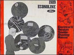 1989 ford econoline foldout wiring diagram e150 e250 e350 van club 1989 ford econoline van club wagon electrical troubleshooting manual