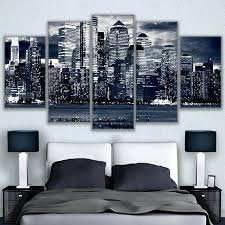 chicago wall art canvas pictures wall art living room 5 pieces black white painting home decor chicago wall art
