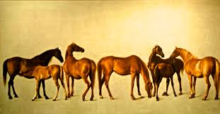mares and foals with an unfigured background england 1762 george stubbs