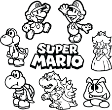Mario Kart Coloring Pages Kart Coloring Pages Easy Coloring Sheets