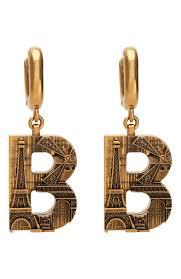 Женские золотые <b>серьги</b> paris <b>BALENCIAGA</b> — купить за 31800 ...