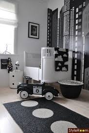 26 Baby boys bedroom design ideas with modern and best theme: black and  white nursery themes for baby boys with police concept (I love the police  car BC my ...