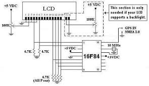 gps circuit rf circuits gr my gps lcd display project using pic16f84