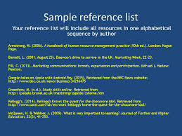 referencing harvard apa th ed referencing academic writing  sample reference list your reference list will include all resources in one alphabetical sequence by author