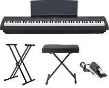 yamaha 88 key digital piano. yamaha p-115 88-key digital piano keyboard (black) with stand, 88 key
