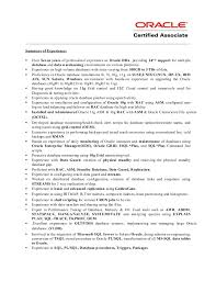 Extremely Oracle Dba 1 Year Experience Resume Astounding Resume Cv