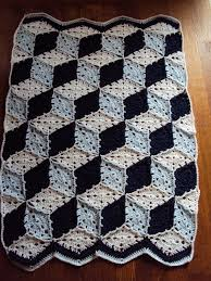 32 best Afghans -- Tumbling Blocks - Crochet images on Pinterest ... & Tumbling blocks crochet baby blanket-would love to figure this one out, it  looks Adamdwight.com