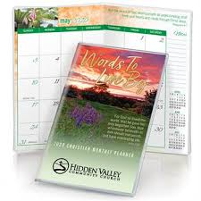 Flower Field John 3 16 2020 Deluxe Words To Live By Christian Monthly Pocket Planner With Sleeve Personalization Available