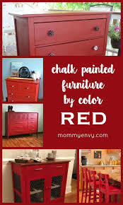 painting furniture ideas color. Chalk Painted Furniture By Color Series - Red Paint | I Love Red! These Pieces Are Making A Big Imp\u2026 All Time Favorite Crafts \u0026 DIY Painting Ideas