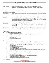 6 Office Manager Job Description For Resume Resume Office Manager