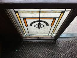 antique 1920 s chicago bungalow stained leaded glass window 32 by 24