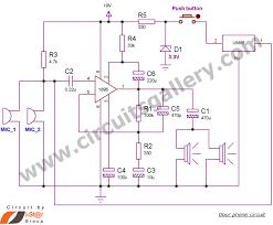 simple door phone intercom circuit schematic duplex circuits door phone intercom schematic