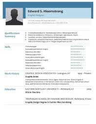 glimmer resume template doc resume templates