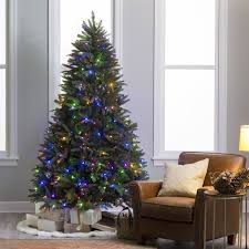 Natural Cut Pre-lit LED Dakota Pine Christmas Tree with Remote Control by  Sterling Tree